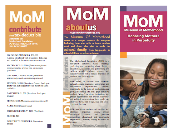 Brochure | Museum of Motherhood {BLOG}